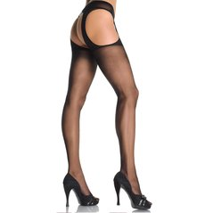 COLLANT SHEER SUSPENDER PANTYHOSE PLUS SI