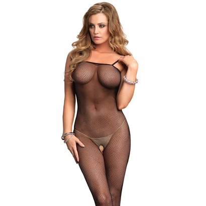 CATSUIT FISHNET BODYSTOCKING OS