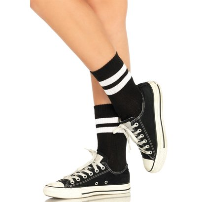 CALZE AUTOREGGENTI ATHLETIC STRIPED ANKLET SOCKS OS