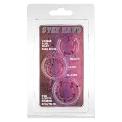 ANELLI FALLICI STAY HARD - THREE - ROSA