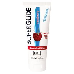 Edibles Superglide Lube 75ml Lampone